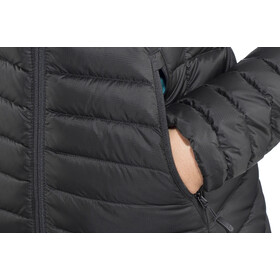 Rab Microlight Alpine Long Jacket Women black/seaglass